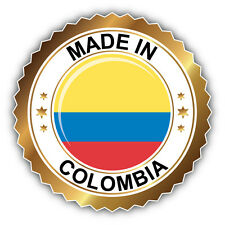 Made In Colombia Label Car Bumper Sticker Decal 5'' x 5''