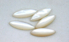 Three 15x5 Marquise Natural Mother Of Pearl Cabochon Cab Gemstone Gem T2A59