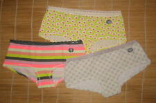 3 Gap Body Panties ultra low rise Girl Shorts Short Lace Waistband Extra Small