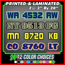 Custom Snowmobile Registration ID Numbers Letter Vinyl Decals 3 COLOR Stickers
