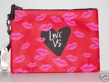 Victorias Secret SEXY LOVE VS RED LIPS &  HEART Clutch Wallet Purse Bag New