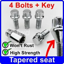 TAPER SEAT LOCK BOLTS FOR VW 14MM (M14x1.5) WITH AFTER-MARKET ALLOY WHEELS [6Z]