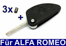 3T Spare Pull key housing for Alfa Romeo 147 156 166 GT+ 3x Microbuttons