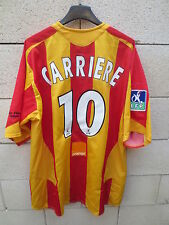 VINTAGE Maillot RC LENS porté CARRIERE 10 NIKE ancien worn trikot match shirt XL