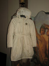 I Pinco Pallino,  Imelde & Stefano Cavalleri Quilted Ivory Coat - Size Age 10