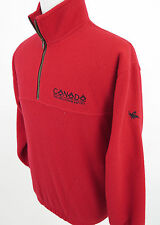 Tundra Sport True North Bright Red 1/4 Zip Fleece Jacket Medium Made in Canada
