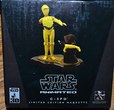 2007 Gentle Giant PROMO Star Wars Animated C-3PO Maquette Item #9100