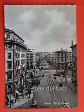 TRIESTE tram tramway Via G. Carducci vecchia cartolina