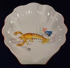 "Vintage Este CE Neiman Marcus Underwater Seabed Lobster Shell 16"" Serving Bowl"