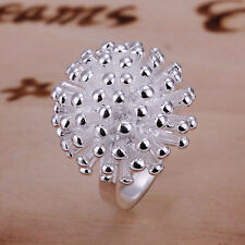 Free shipping wholesale sterling solid silver fashion fireworks Ring XCSR001