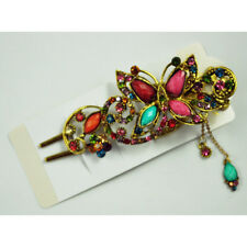 Vintage Crystal Butterfly Hair Pins Hair stick For Hair clip Beauty Tools ED