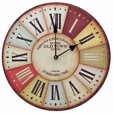 London Old Town Vintage Urban Art Rustic Prints Decorative Wall Clock 13""