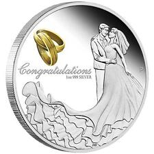 2015 $1 CONGRATULATIONS ON YOUR WEDDING 1OZ SILVER PROOF COIN