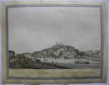 Koblenz Festung Ehrenbreitstein aquarellierte Umrissradierung Ziegler 1798