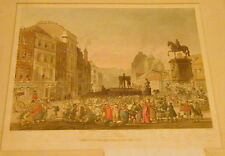 1809 HAND COLORED ETCHNG, PILLORY CHARING CROSS, MICROCOSM OF LONDON, ROWLANDSON