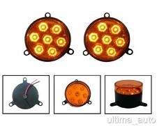 2X LED TAIL REAR INDICATOR AMBER LIGHT INNER RING 12V TRAILER LORRY CHASSIS BUS