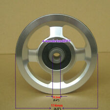 NEW 114mm Universal Aluminium Alloy Bearing Pulley Wheel For Gym Equipment Part