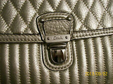 COACH POPPY QUILTED LEATHER SLIM TOTE, 19854 SV/PLATINUM- NWT, FREE SHIPPING!!