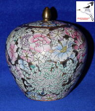 Chinese Ovoid Jar Tea Caddy Ginger Oriental Porcelain Qing Daoguang Mark 19c