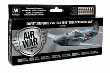 Vallejo VLJ-P71198 Soviet Air Force VVS 1943 to 1945 Model Air Paint Set