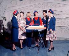 Photo. 1974-5. New Zealand. Airline Hostesses Modeling Uniforms