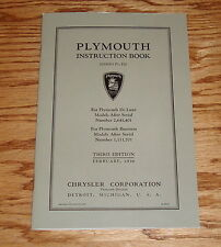 1936 Plymouth Owners Operators Manual Instruction Book Third Edition 36