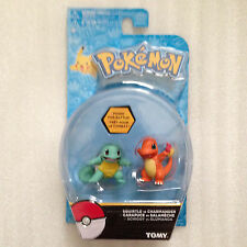"NEW Pokemon Squirtle vs Charmander 2 pack figures 2"" tall Tomy authentic"