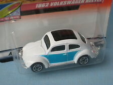 Matchbox 1962 Volkswagon VW Beetle White Body Toy Model Car in BP Blue Sides