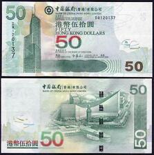 Hong Kong 50 Dollars 2009 P336 UNC**New Date (Bank of China)