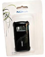 Nokia back cover móvil, funda cc-3010 negro con cuero para Nokia c6-01 - en su embalaje original