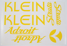 Klein Adroit Paint Mask Decals ~ Klein Frame, Strata Fork, Headbadge Decals