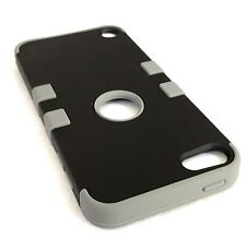 For iPod Touch 5th & 6th Gen - HYBRID HIGH IMPACT ARMOR CASE COVER GRAY / BLACK