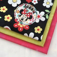 Disney Minnie Mouse Floral Toss Fun Whimsical Fabric for Quilting Craft Sewing