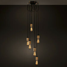 Industrial Edison Bulbs Ceiling Pendant Light Chandelier Vintage Lighting 6Lamp