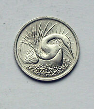 1976 Singapore Coin - 5 Cents - UNC - full mint lustre - animal (snake bird)