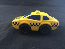 MATTEL INC.  HONG KONG  FIRST WHEELS YELLOW TAXI & BLUE WINDOWS