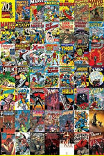 Marvel Comics 70 Years of Comics Covers Poster Print 24x36