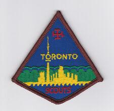 SCOUT OF CANADIAN - ASSOCIATION DES SCOUTS DU CANADA (ASC) TORONTO SCOUTS Patch