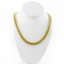 SOLID 14K YELLOW GOLD FINISH THICK HEAVY MIAMI CUBAN TIGHT LINK CHAIN 13MM JayZ