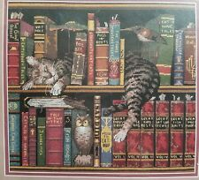 "Dimensions Counted Cross Stitch Fredrick The Literate Cat 35048 2001 12"" x 11"""