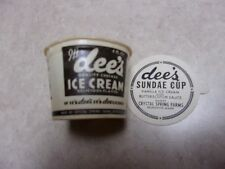 LOT OF 3 DEE'S SUNDAE CUP. CRYSTAL SPRING FARM. BRUNSWICK, ME. DAIRY