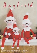 HAYFIELD/SIRDAR 2475 CHRISTMAS ELF/ELVES ORIGINAL KNITTING PATTERN - 3 SIZES