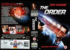 The Order, Jean Claude Van Damme VHS Video Promo Sample Sleeve/Cover #8203