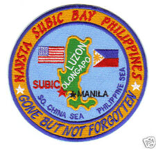 US NAVY BASE PATCH, NAVSTA SUBIC BAY PHILIPPINES, GONE BUT NOT FORGOTTEN     Y