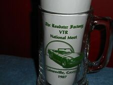 GAINSVILLE GEORGIA ROADSTER FACTORY 1987 VTR MEET GLASS MUG STANPART AUTOPARTS