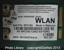 Dell PC193 WiFi WLAN Wireless Card Anatel WM3945ABG Vostro Inspiron Latitude XPS