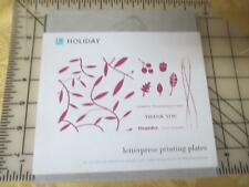 New NIB Lifestyle Crafts Letterpress HOLIDAY  printing plates -others available