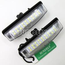 2 x License Plate LED Light Lamp For Toyota Camry Prius Echo Aurion Avensis