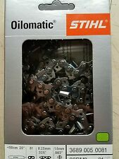 "NEW STIHL 20"" Chain 26RM381  #3689 005 0081 Rapid Micro  81DL .325""P .063""G"
