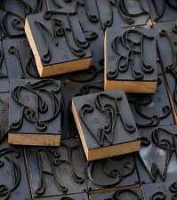Style Art déco LINGE cachet monogramme pochoir textile cachet tissu pression vintage vt